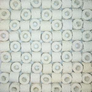 Керамический наполнитель для аквариумного фильтра в виде колец Kivach