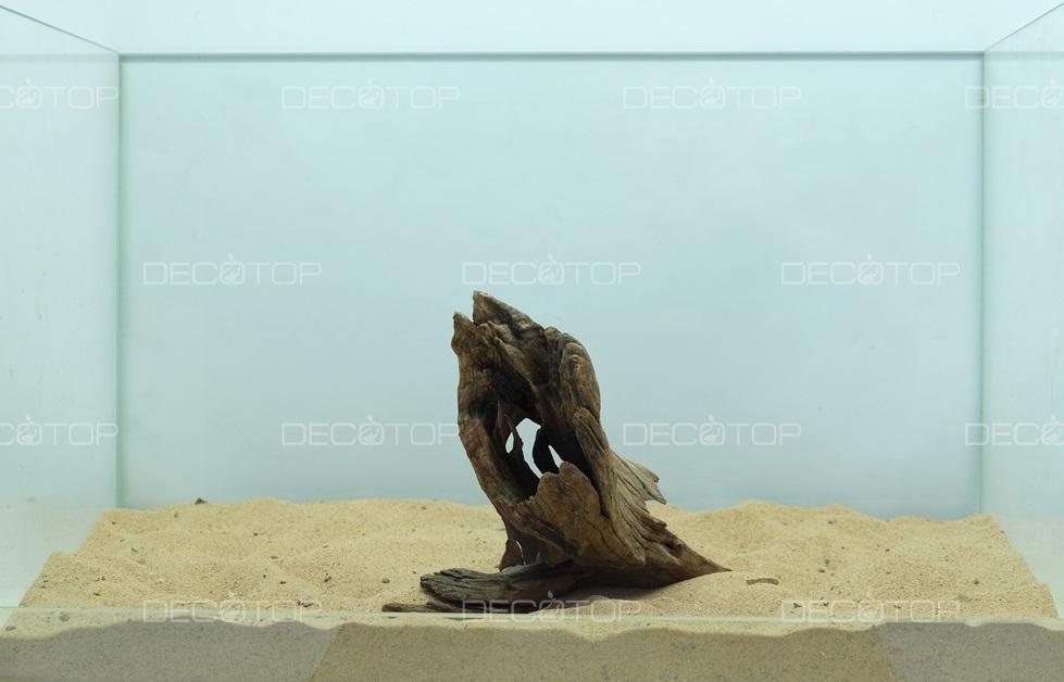 DECOTOP Borneo 494 - Натуральная коряга для аквариумов от 20 литров, 19х14х6 см