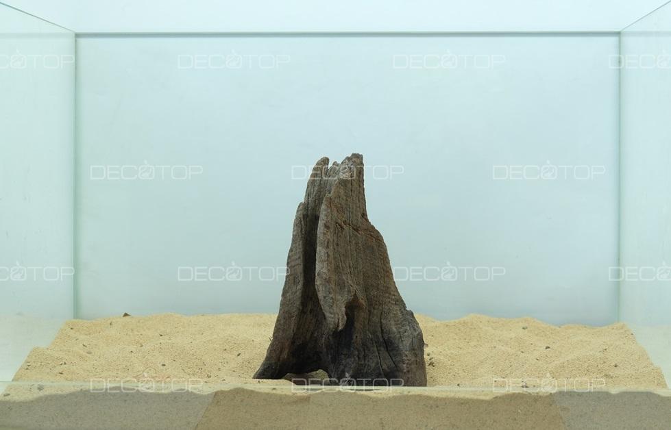 DECOTOP Borneo 510 - Натуральная коряга для аквариумов от 20 литров, 16х12х6 см