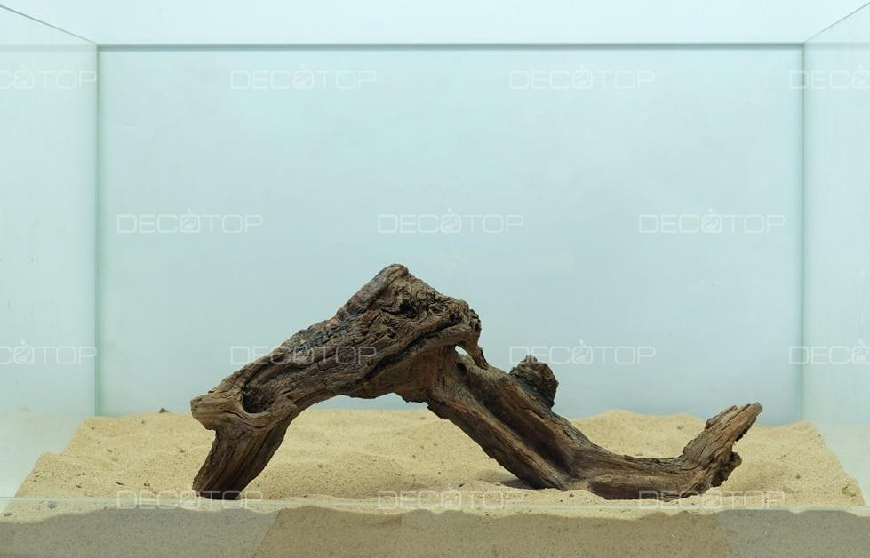 DECOTOP Borneo 514 - Натуральная коряга для аквариумов от 20 литров, 30х12х4 см