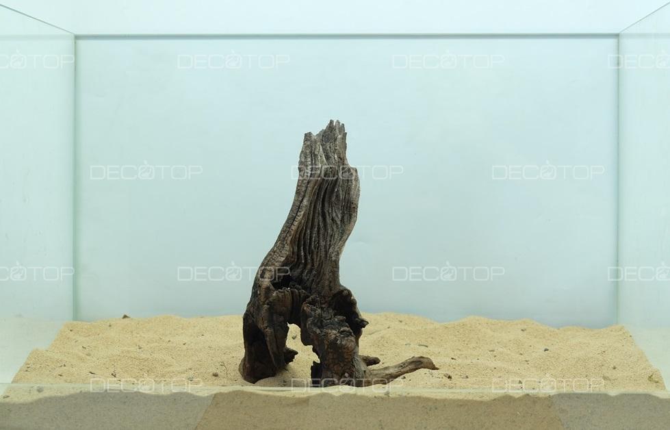 DECOTOP Borneo 526 - Натуральная коряга для аквариумов от 20 литров, 19х14х7 см