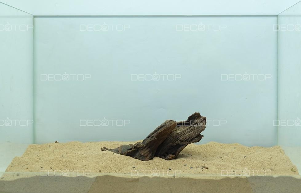 DECOTOP Borneo 528 - Натуральная коряга для аквариумов от 20 литров, 17х7х4 см