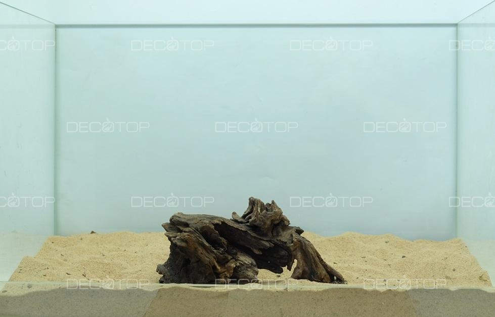 DECOTOP Borneo 529 - Натуральная коряга для аквариумов от 20 литров, 16х7х6 см