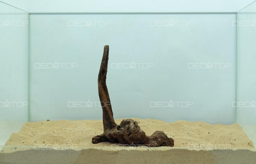 DECOTOP Borneo 532 - Натуральная коряга для аквариумов от 20 литров, 18х14х6 см
