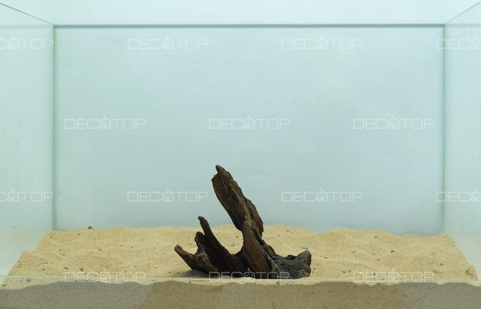 DECOTOP Borneo 533 - Натуральная коряга для аквариумов от 20 литров, 16х10х6 см