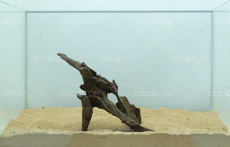 DECOTOP Borneo 534 - Натуральная коряга для аквариумов от 20 литров, 24х12х7 см