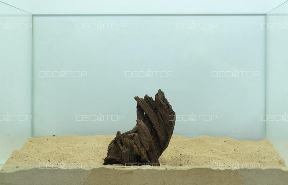 DECOTOP Borneo 535 - Натуральная коряга для аквариумов от 20 литров, 15х9х7 см
