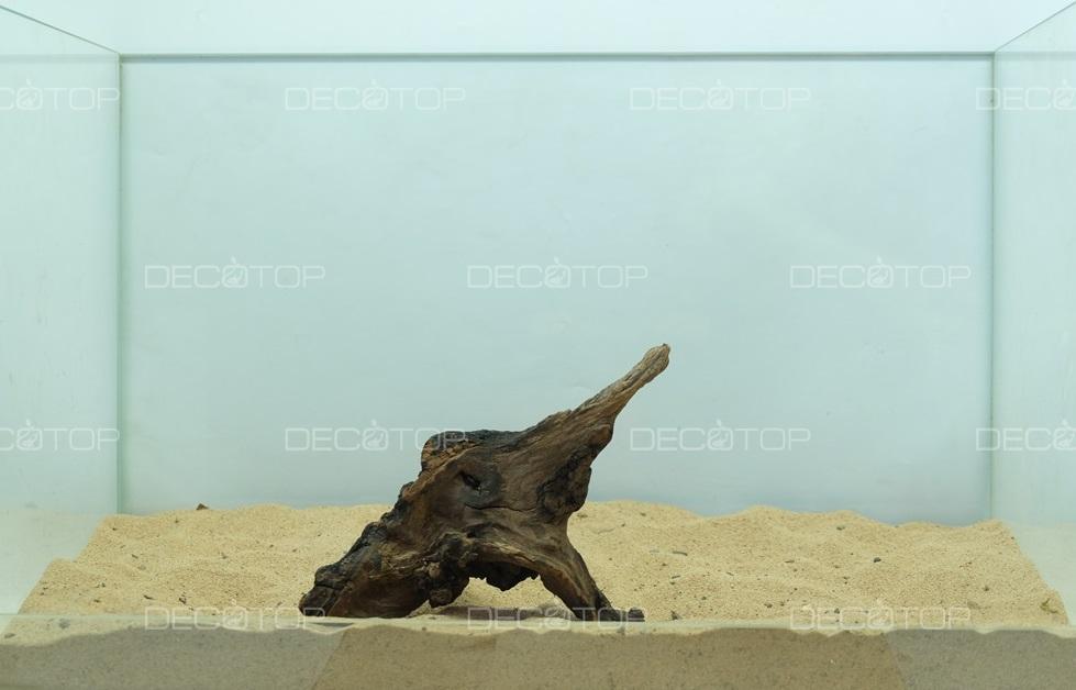DECOTOP Borneo 536 - Натуральная коряга для аквариумов от 20 литров, 18х11х5 см