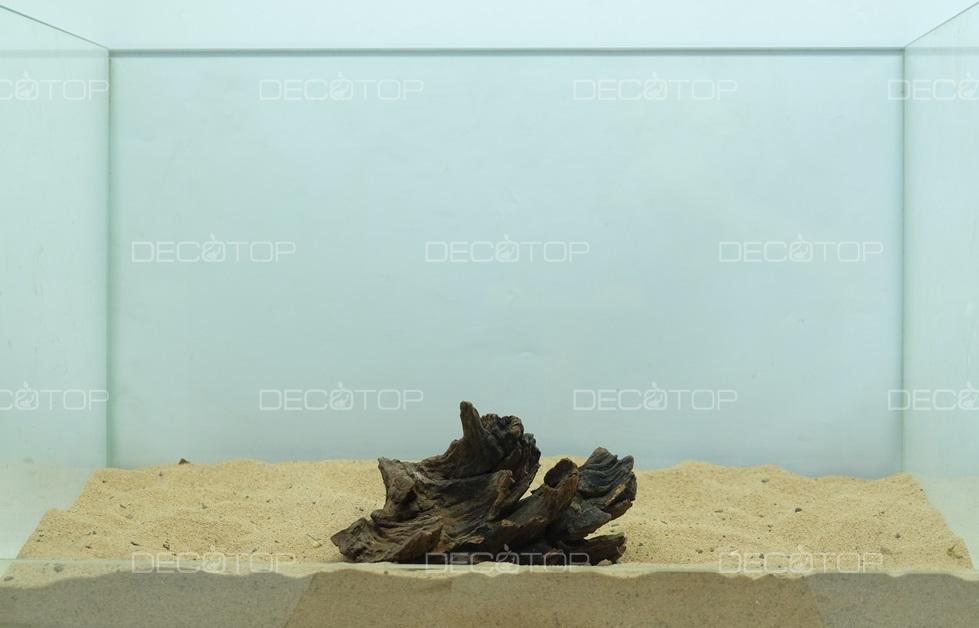 DECOTOP Borneo 537 - Натуральная коряга для аквариумов от 20 литров, 13х10х8 см