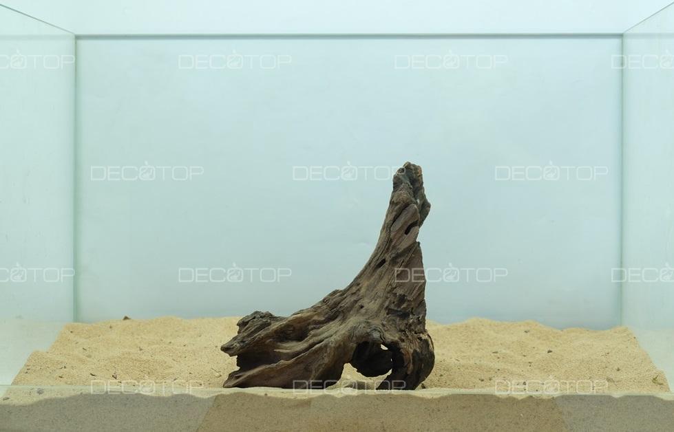 DECOTOP Borneo 539 - Натуральная коряга для аквариумов от 20 литров, 18х10х7 см