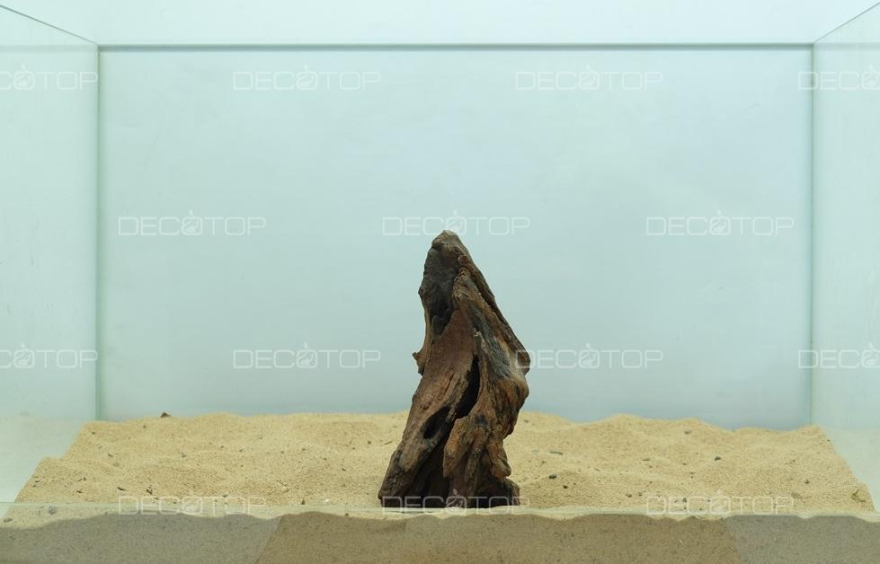 DECOTOP Borneo 545 - Натуральная коряга для аквариумов от 20 литров, 15х7х5 см