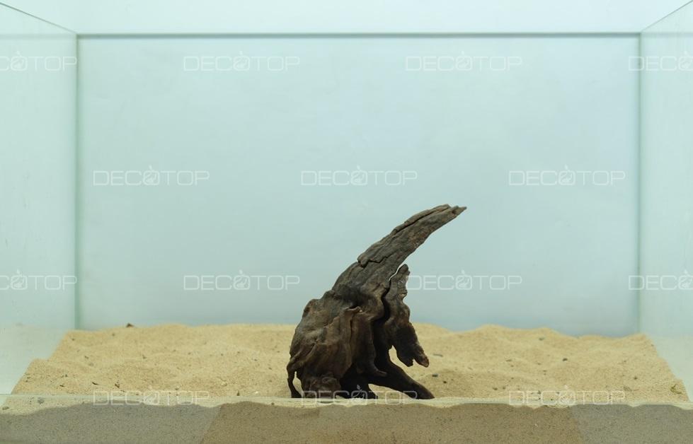 DECOTOP Borneo 547 - Натуральная коряга для аквариумов от 20 литров, 16х10х5 см