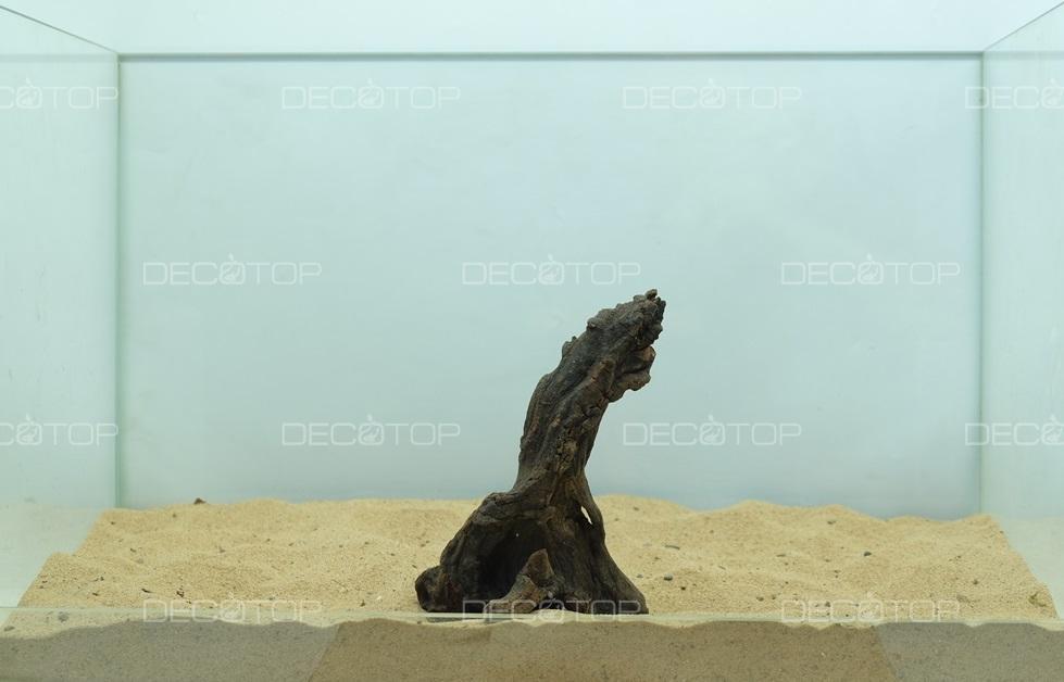 DECOTOP Borneo 550 - Натуральная коряга для аквариумов от 20 литров, 15х10х7 см