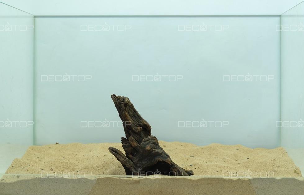 DECOTOP Borneo 551 - Натуральная коряга для аквариумов от 20 литров, 17х8х7 см