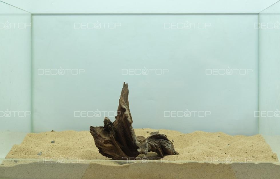 DECOTOP Borneo 586 - Натуральная коряга для аквариумов от 20 литров, 17х14х6 см