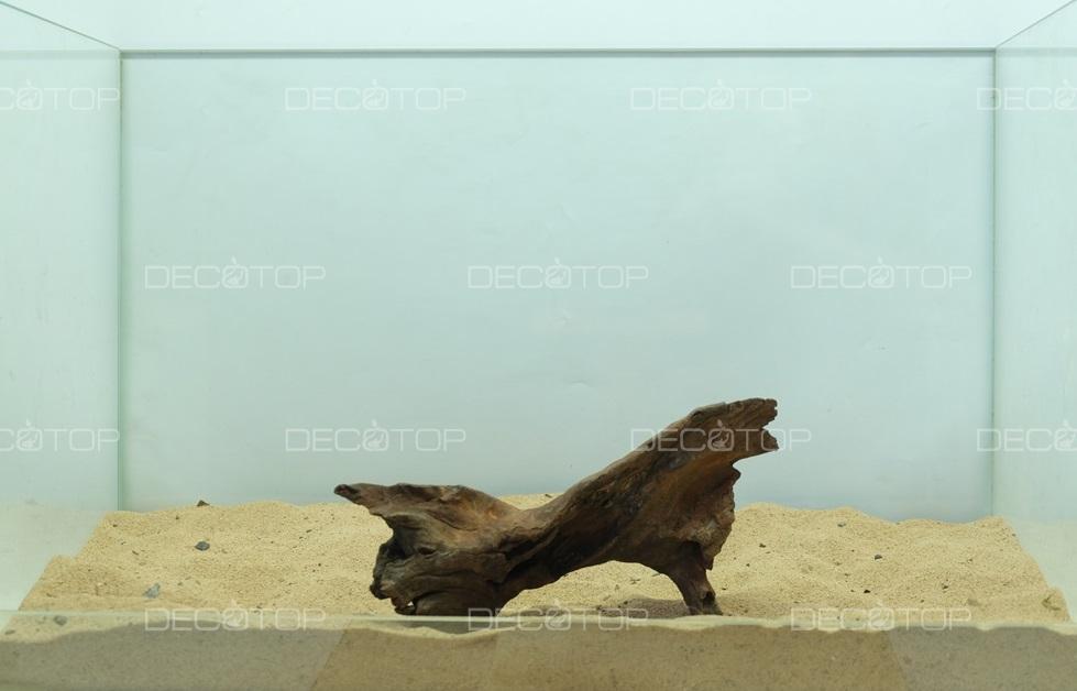 DECOTOP Borneo 588 - Натуральная коряга для аквариумов от 20 литров, 17х10х3 см