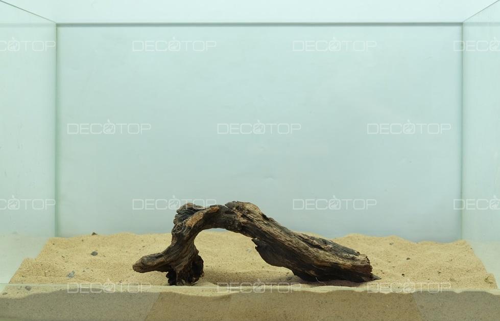 DECOTOP Borneo 589 - Натуральная коряга для аквариумов от 20 литров, 22х8х5 см