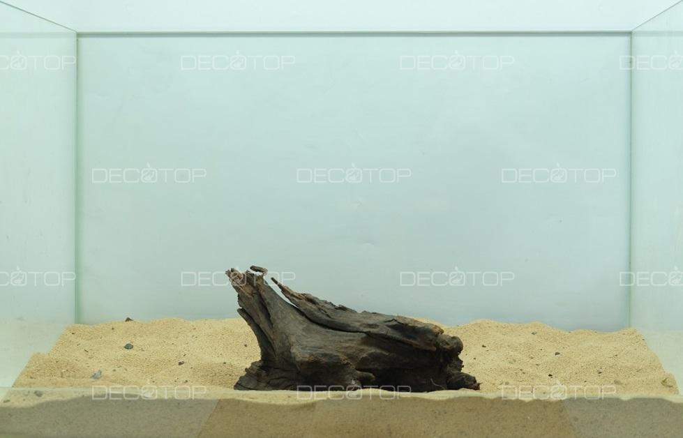DECOTOP Borneo 594 - Натуральная коряга для аквариумов от 20 литров, 17х9х5 см