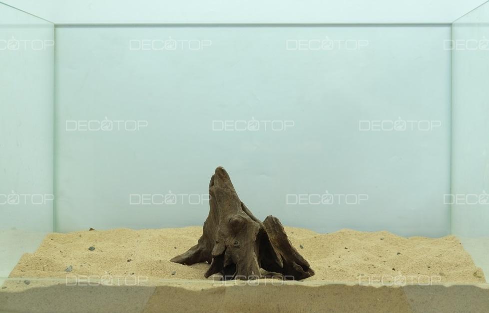 DECOTOP Borneo 597 - Натуральная коряга для аквариумов от 20 литров, 13х11х10 см