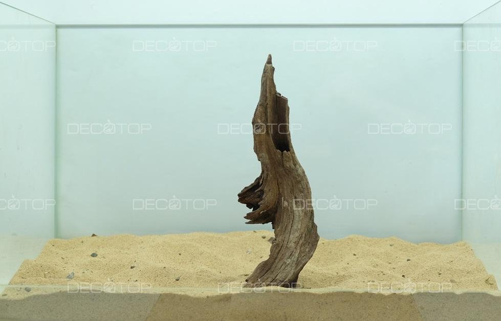 DECOTOP Borneo 598 - Натуральная коряга для аквариумов от 20 литров, 21х6х3 см
