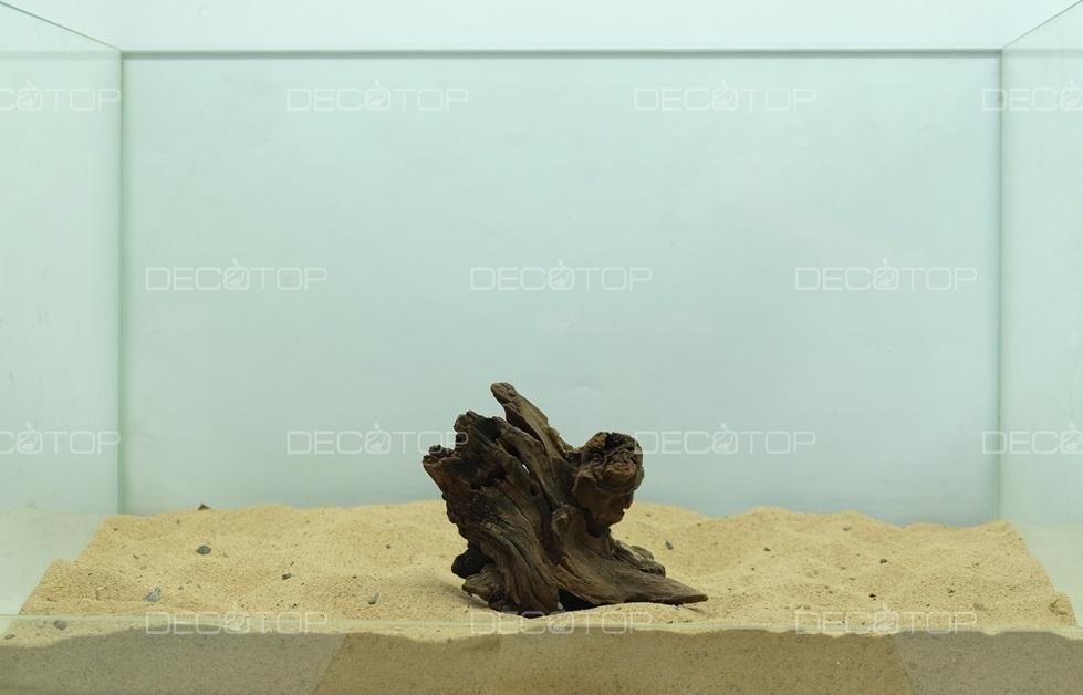 DECOTOP Borneo 599 - Натуральная коряга для аквариумов от 20 литров, 13х9х5 см