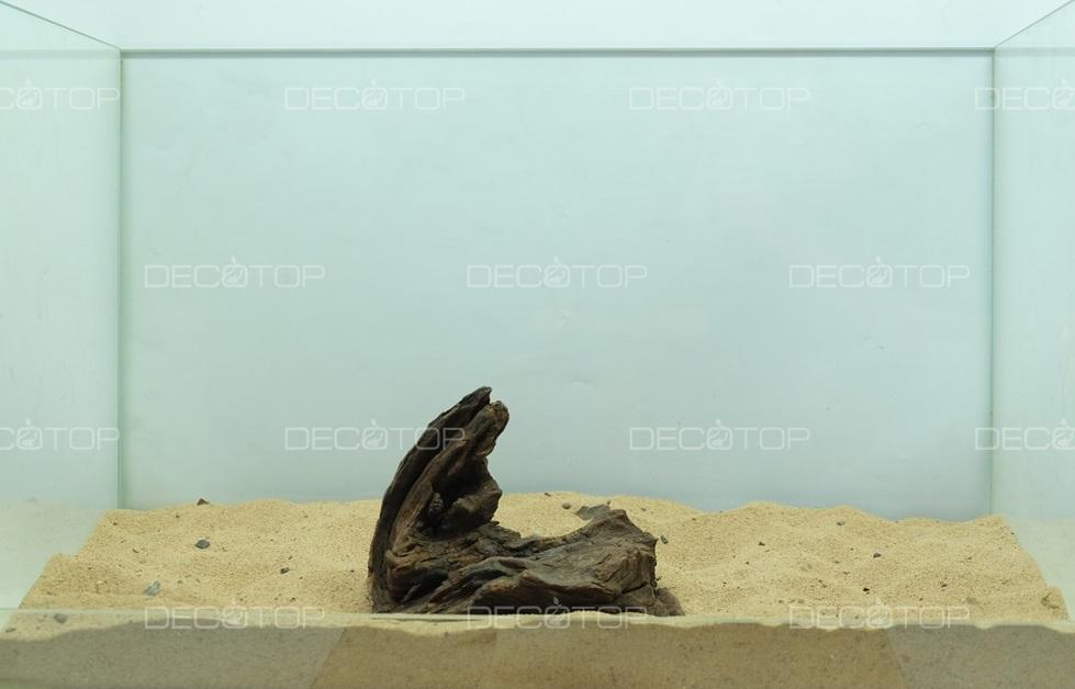 DECOTOP Borneo 600 - Натуральная коряга для аквариумов от 20 литров, 14х12х4 см